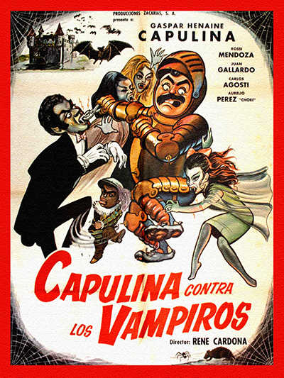 "Cover of ""Capulina contra Los Vampiros"" film"