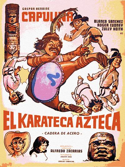 "Cover of ""El Karateca Azteca"" film"