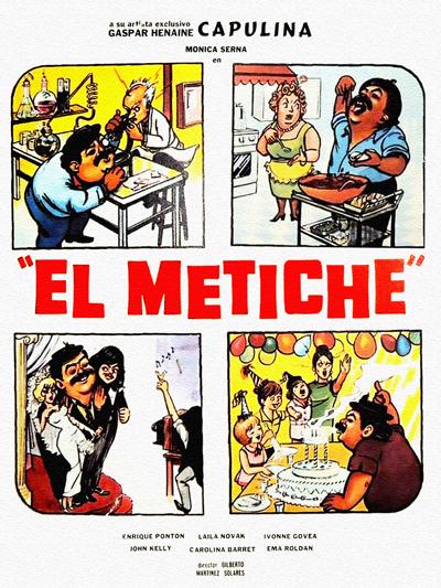"""Cover of """"El Metiche"""" film"""